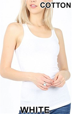Zenana White RIb Tank